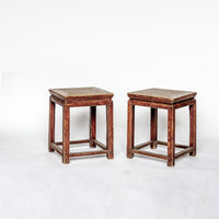 Antique Low Sqaure Stool YX0608034-SEATING-Wu & McHugh