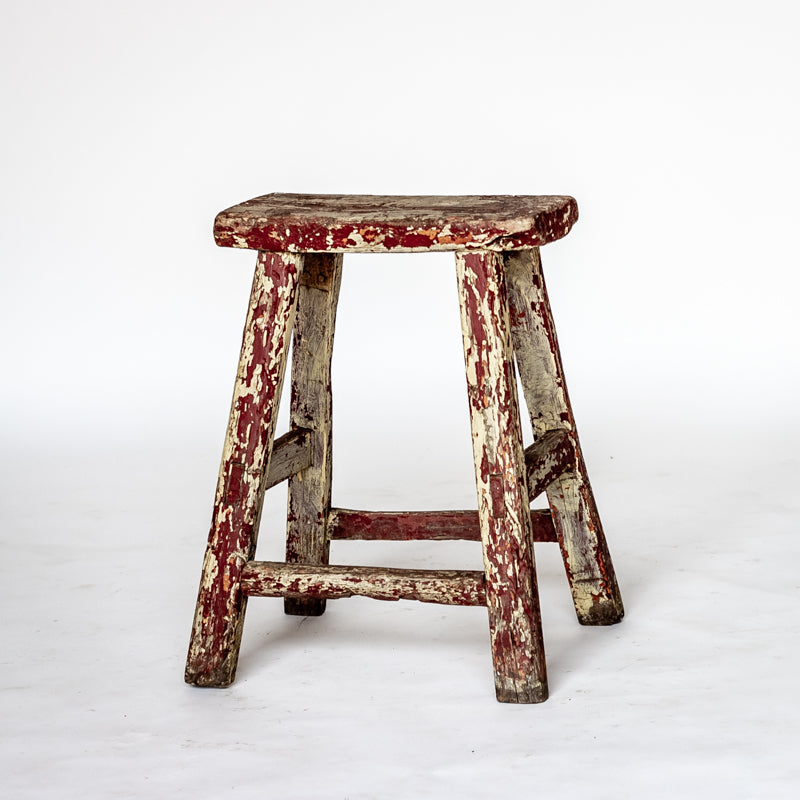 Vintage Rectangle Village Stool YX0018037ZD-SEATING-Wu & McHugh