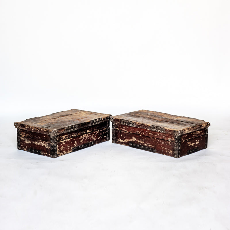 Antique Rustic Wooden Food Boxes AD0118132-TABLE DÉCOR-Wu & McHugh