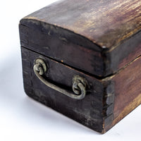 Antique Worn Wooden Scroll Box YX0118049