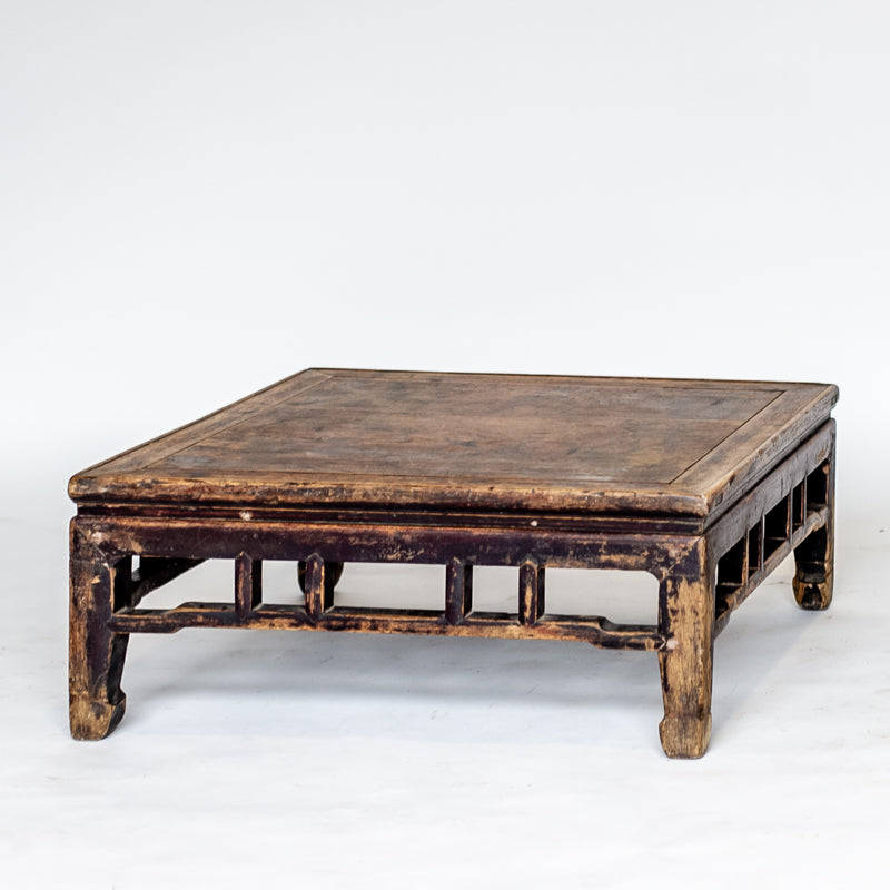 Antique Low Square Kang Table AD0716037-TABLES-Wu & McHugh
