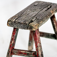 Vintage Small Elm Workers Stool HH8-SEATING-Wu & McHugh