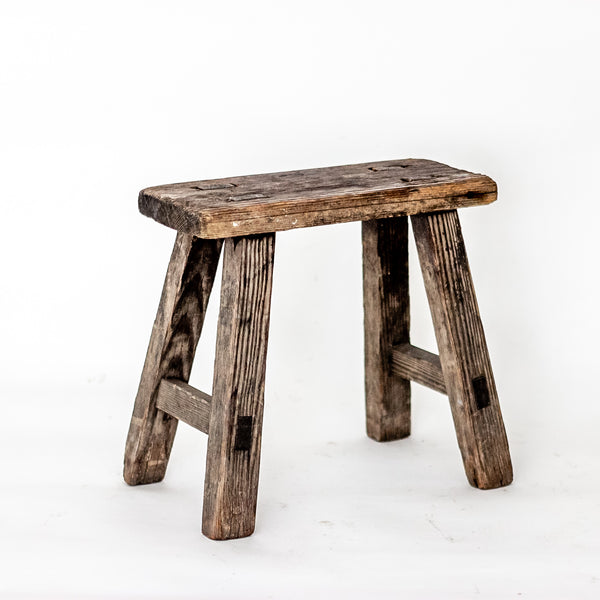Vintage Small Elm Workers Stool SL12-SEATING-Wu & McHugh