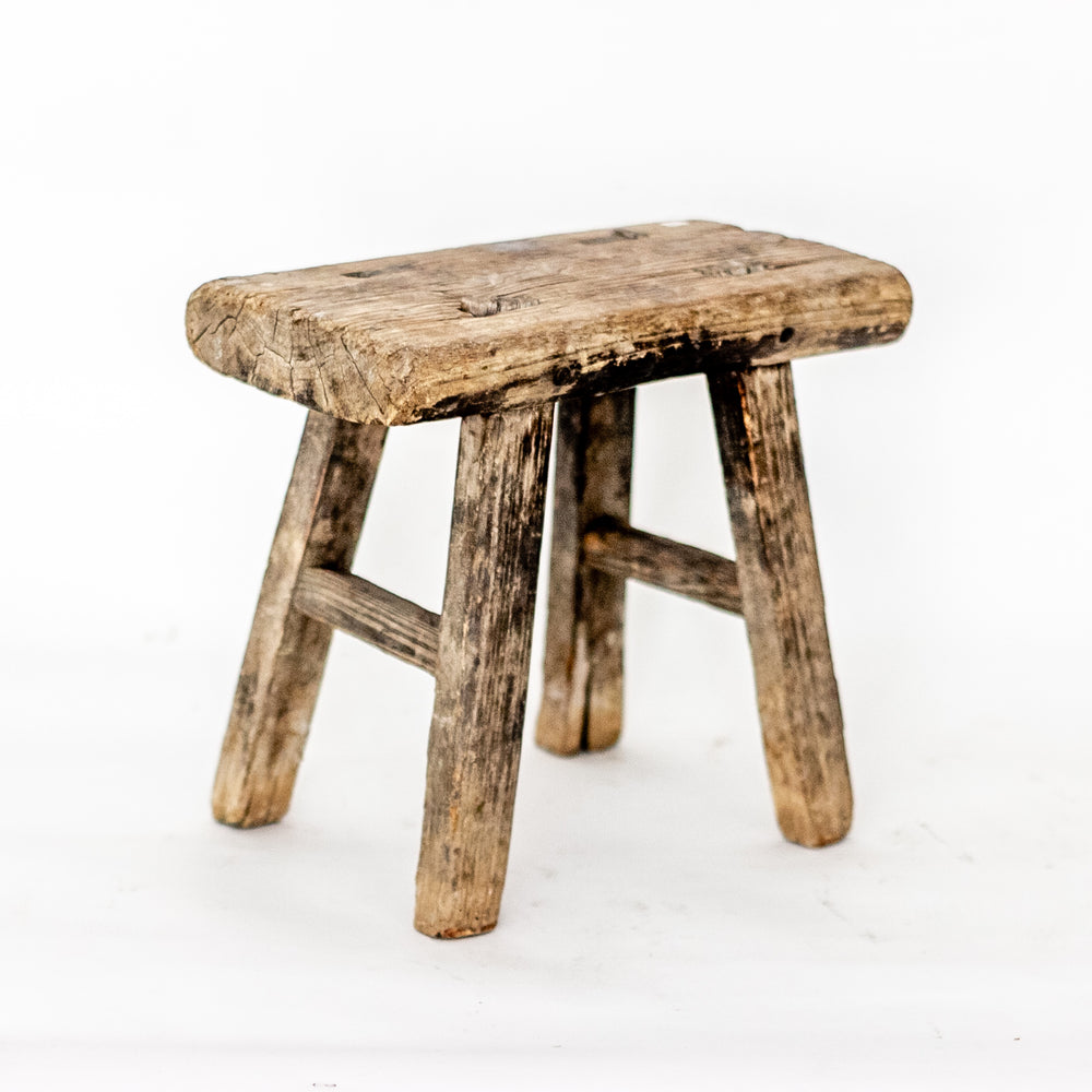 Vintage Small Elm Workers Stool SM13-SEATING-Wu & McHugh
