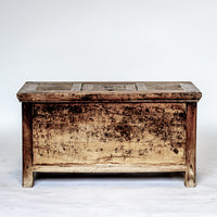 Antique Money Chest Bench YX0517044-CABINETS & STORAGE-Wu & McHugh