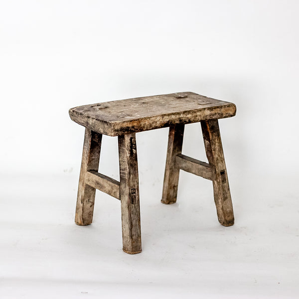 Vintage Small Elm Workers Stool SS19-SEATING-Wu & McHugh