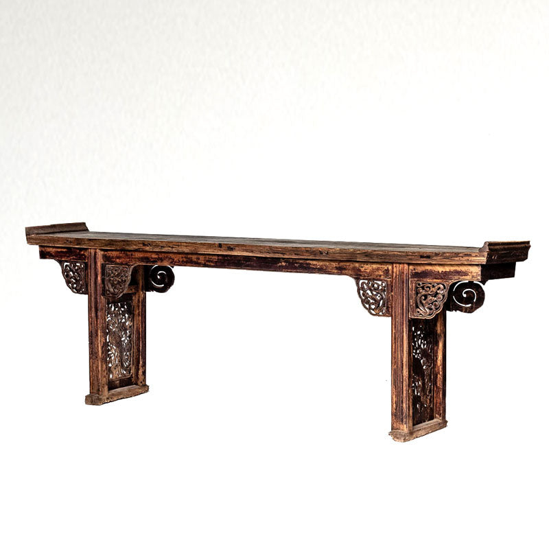 Antique Substantial Long and Narrow Altar Table AD0716035-TABLES-Wu & McHugh