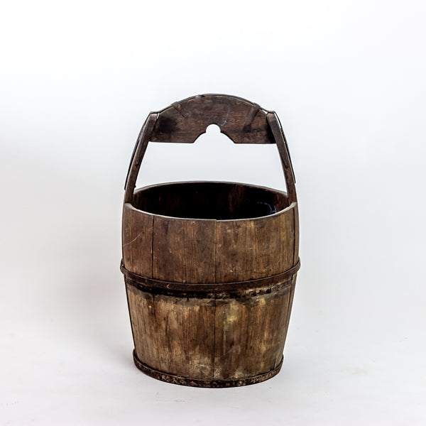 Antique Elm Water Bucket YX0118099HA