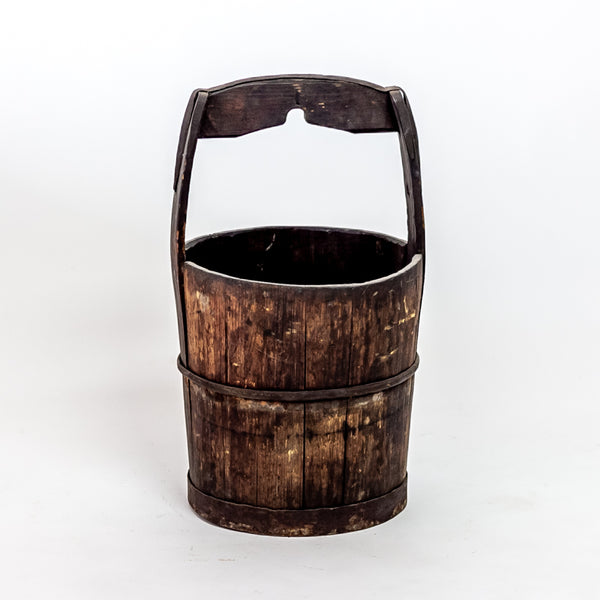 Antique Elm Water Bucket YX0118099HC