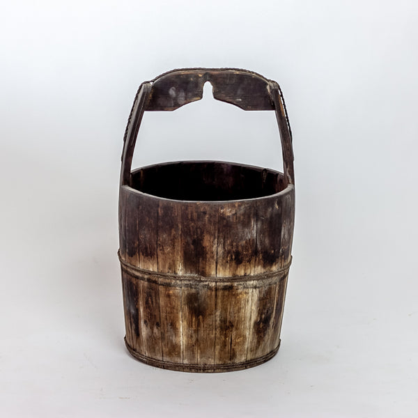 Antique Elm Water Bucket YX0118099HF