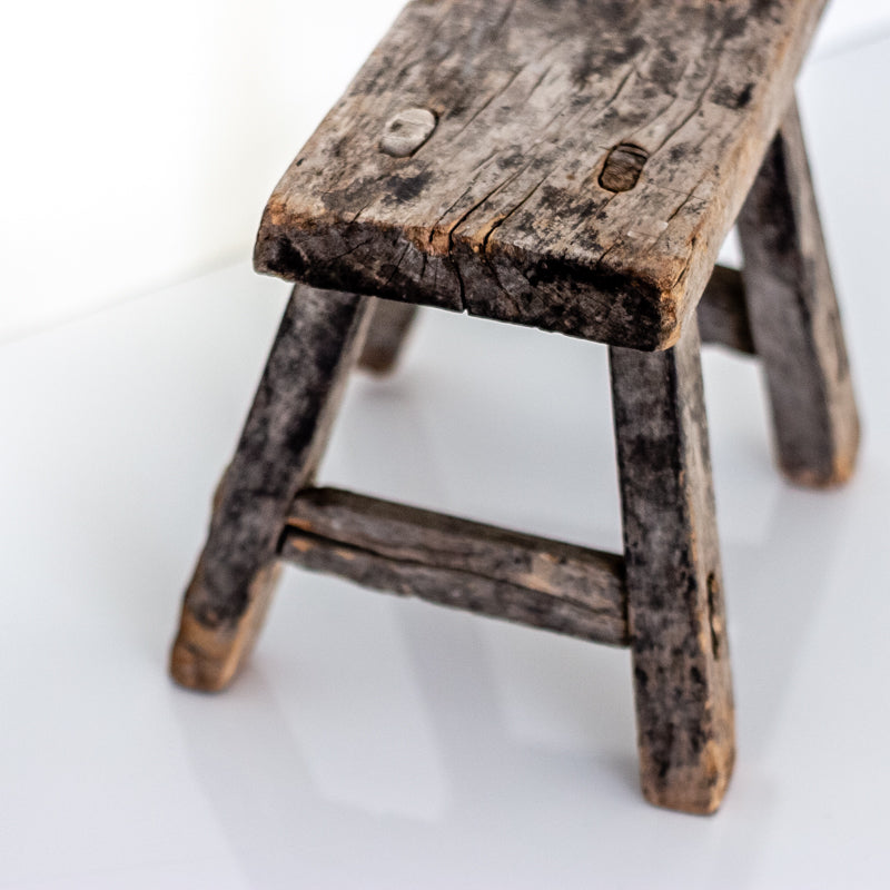 Vintage Small Elm Workers Stool SB2-SEATING-Wu & McHugh
