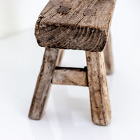 Vintage Small Elm Workers Stool SD4-SEATING-Wu & McHugh