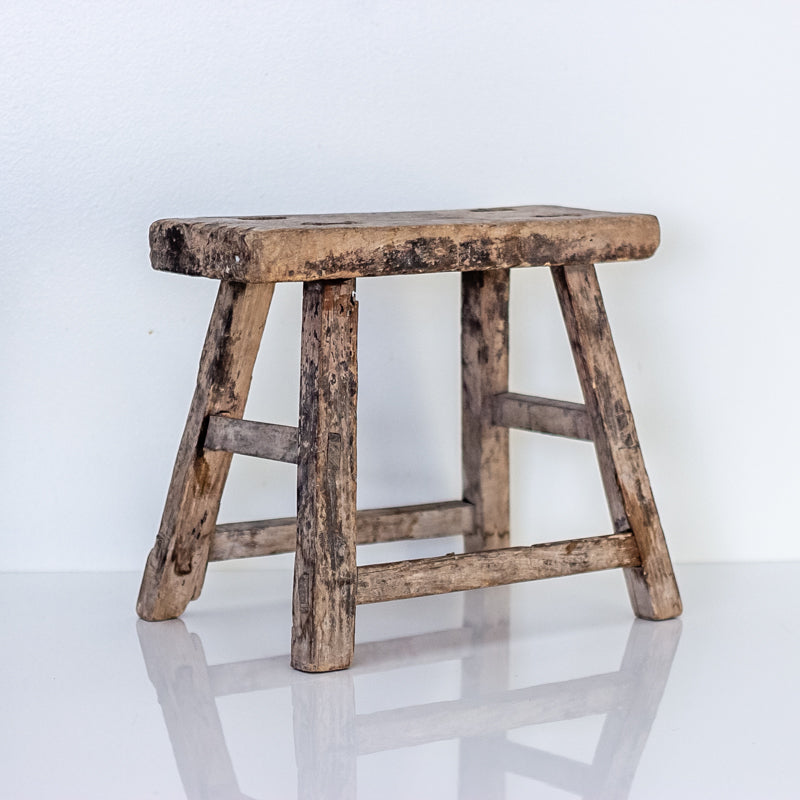 Vintage Small Elm Workers Stool SE5