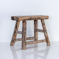 Vintage Small Elm Workers Stool SE5-SEATING-Wu & McHugh