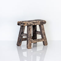 Vintage Small Elm Workers Stool SJ10-SEATING-Wu & McHugh