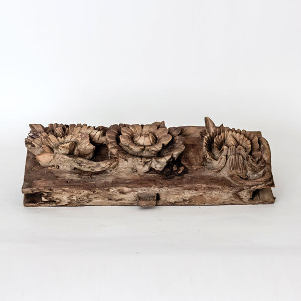 Antique Hand Carved Wooden Decorative Architectual Element YX1116066-ARCHITECTURAL ELEMENTS-Wu & McHugh