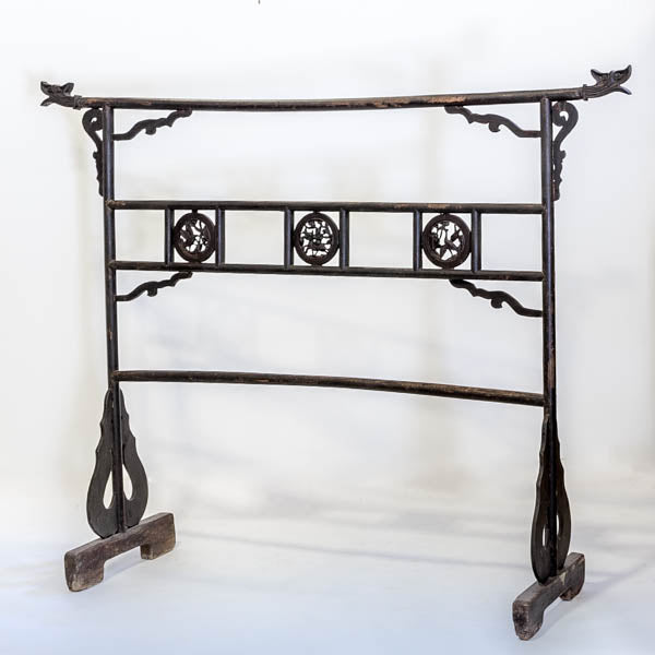 Antique Wooden Clothes Hanger AD0716060-WALL DÉCOR-Wu & McHugh