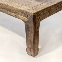 Salvaged Antique Elm Coffee Table AD0716105-TABLES-Wu & McHugh