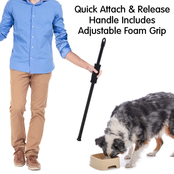 easy to feed pet bowl quick attach handle