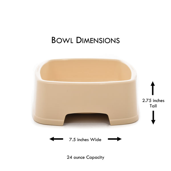 easy to feed pet bowl dimensions