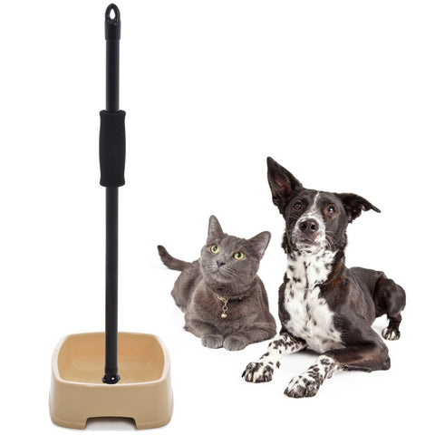 easy to feed pet bowl with handle