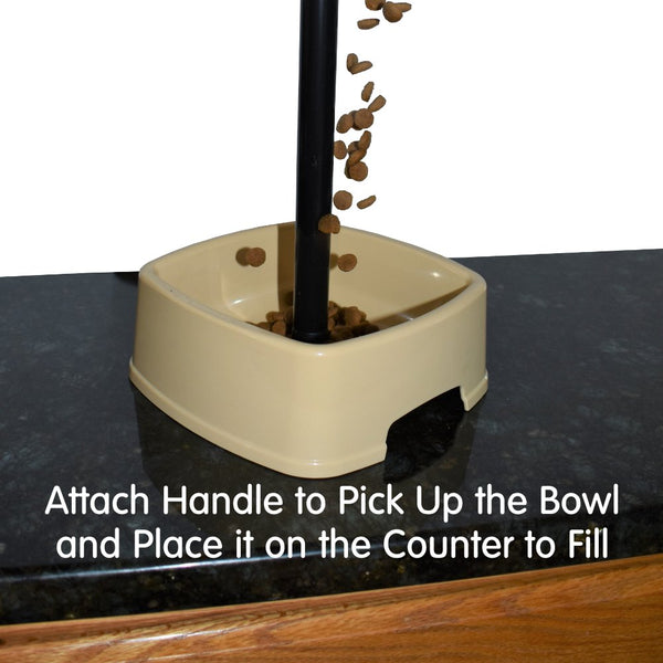 easy to feed pet bowl food or water