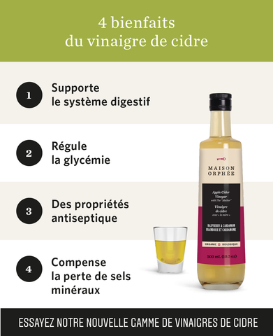 Les bienfaits du vinaigre de cidre / Health benefits of apple cider vinegar
