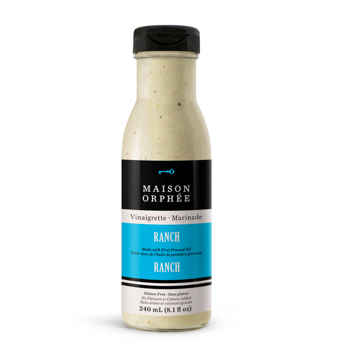 Vinaigrette-marinade Ranch, parfaite pour les salades de pâtes et pommes de terre, en sauce avec les ailes de poulet. Ranch vinaigrette, dairy-free, perfect for pasta or potato salade or with chicken wings.