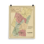 Canton, CT 1869 Map
