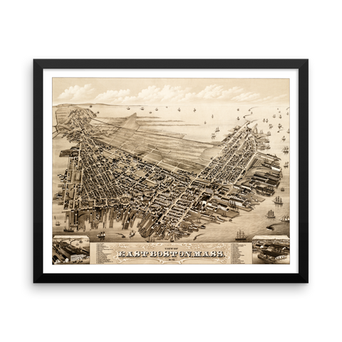 East Boston, MA 1879 Framed
