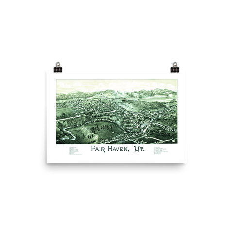 Fair Haven, VT 1886 Map