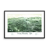 Fair Haven, Vermont 1886 Framed