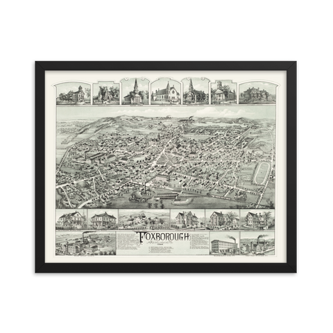 Foxborough, MA 1888 Framed