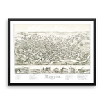 Muncie, Indiana 1884 Framed