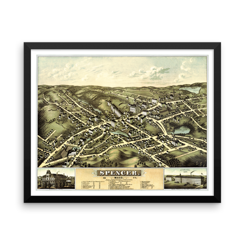 Spencer, Mass 1877 Framed