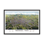Danbury, CT 1884 Framed