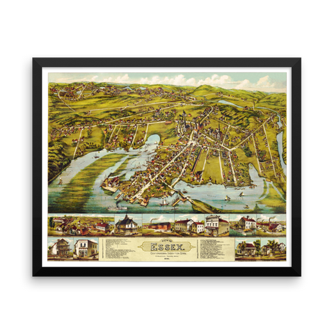 Essex, Connecticut 1881 Framed