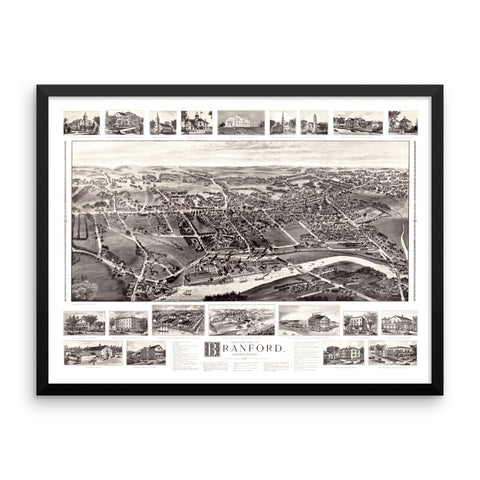 Branford, CT 1905 Framed