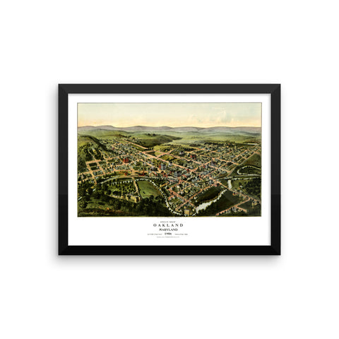 Oakland, Maryland 1906 Framed