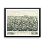 New Canaan, CT 1878 Framed