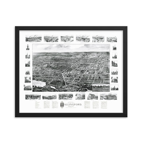 Wallingford, Connecticut 1905 Framed