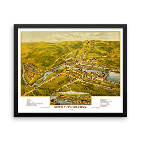 New Hartford, CT 1878 Framed