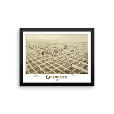 Childress, Texas 1890 Framed