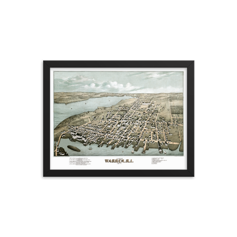 Warren, Rhode Island 1877 Framed