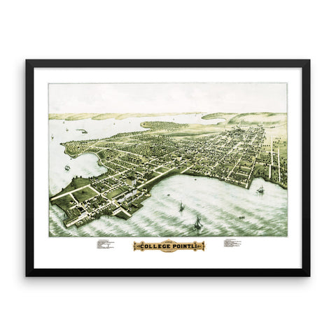 College Point, NY 1876 Framed
