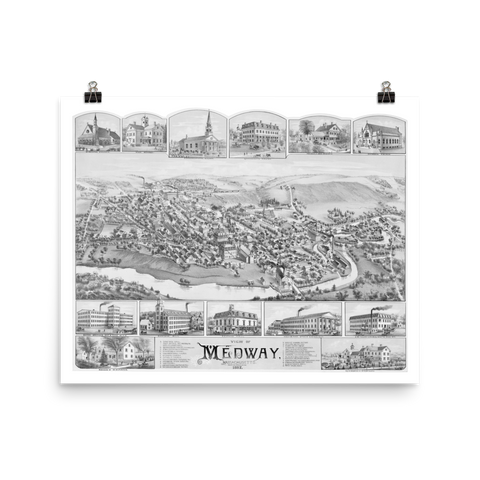 Medway, MA 1887 Map
