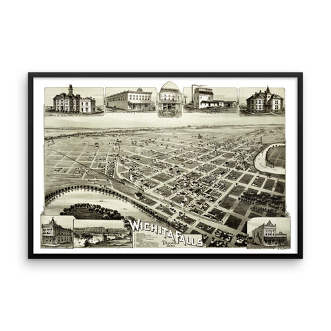 Wichita Falls, Texas 1890 Framed
