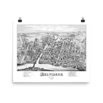 Belvidere, NJ 1883 Map