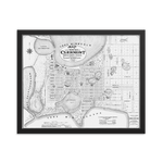 Clermont, FL 1884 Framed Map