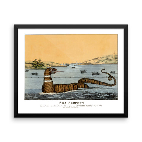 Gloucester Sea Serpent, 1817 Framed